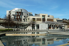 Scottish_Parliament_Building_and_adjacent_water_pool,_2017