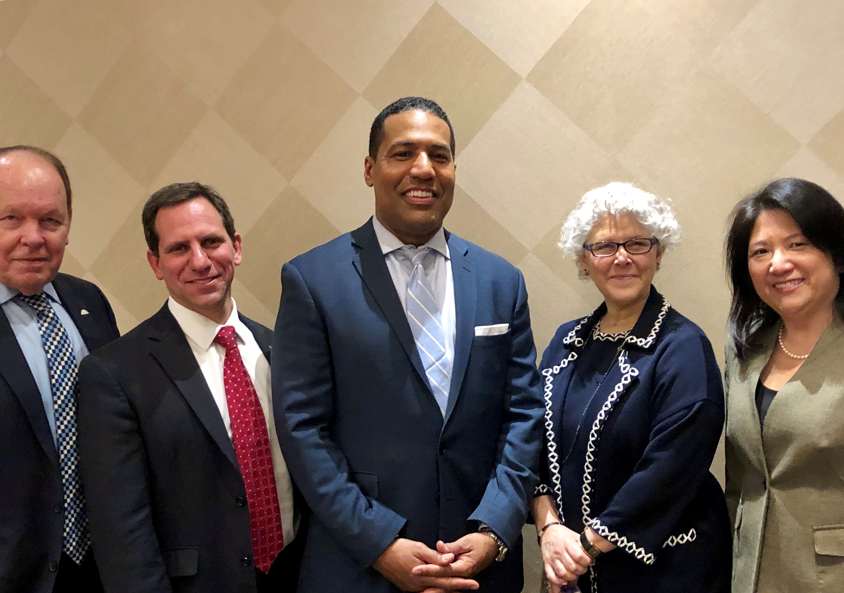 CBA President Jonathan M. Shapiro and Vice President Amy Lin Meyerson, along with past presidents Livia D. Barndollar (2008-2009) and Barry C. Hawkins (2012-2013), met with CNN Legal Analyst Joey Jackson during 2019 ABA Day.