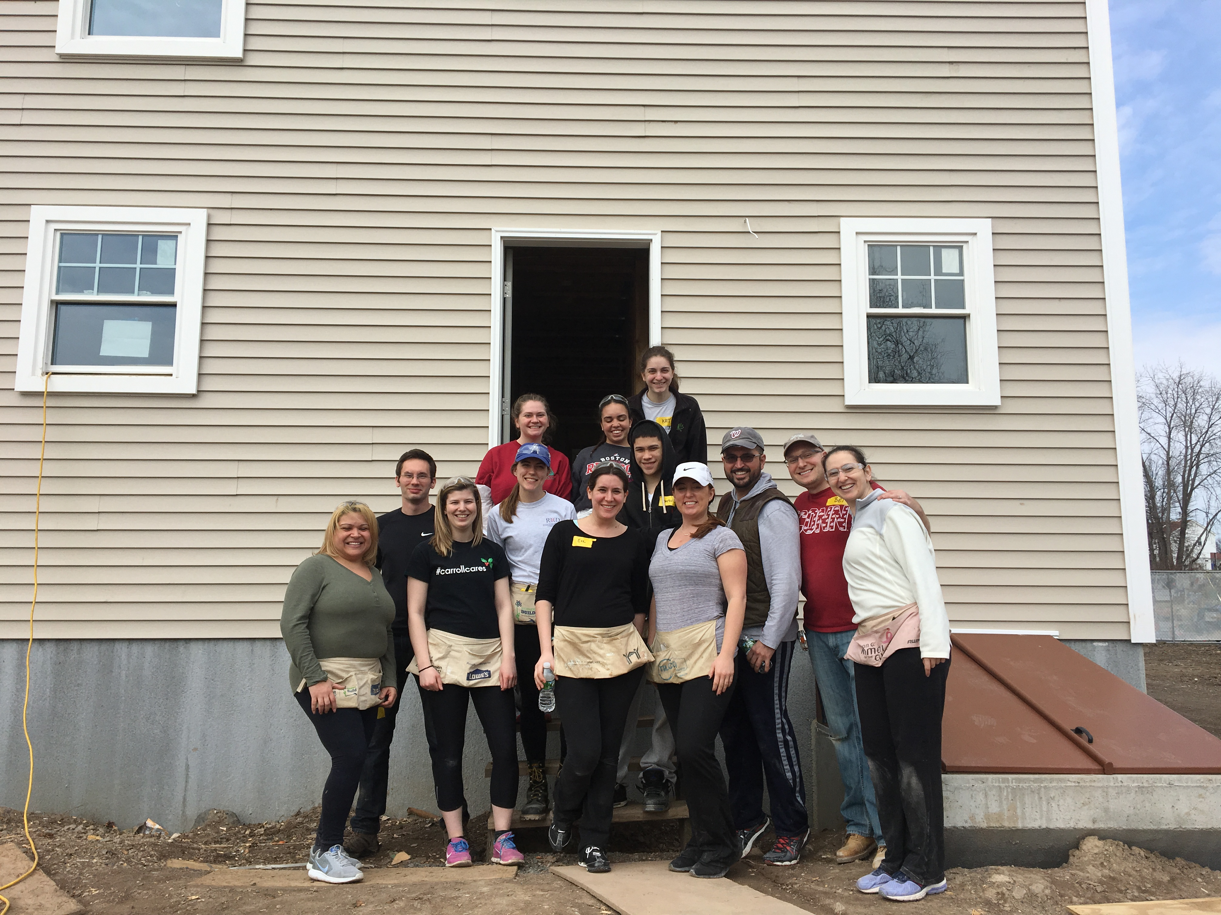 YLS volunteers at the Hartford Habitat for Humanity build.